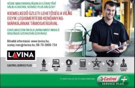 Csatlakozzon Ön is a Lavina szervizhálózatához a Castrol támogatásával!