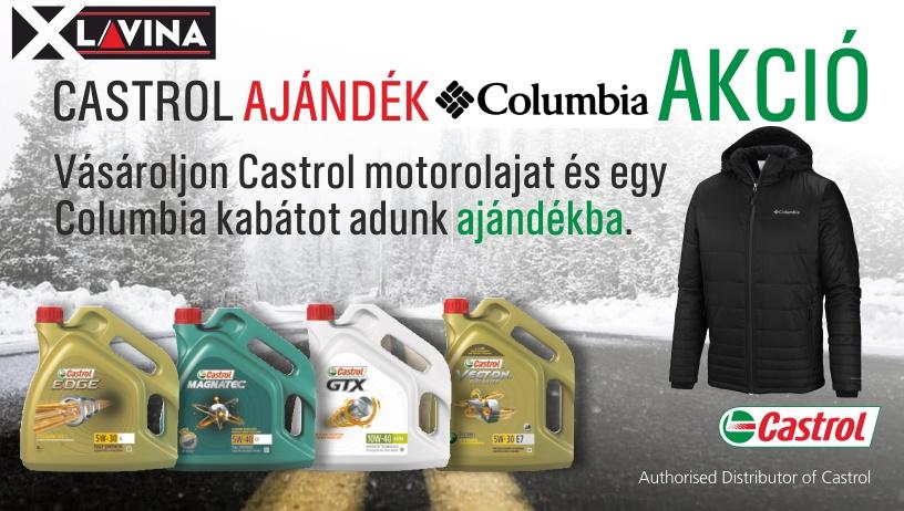 Castrol Columbia ajándék akció