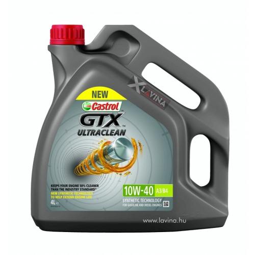 castrol-gtx-ultraclean-10w40 4l A3/B4 motorolaj