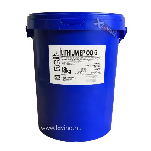 Netla Lithium EP00 G kenőzsír 18kg,