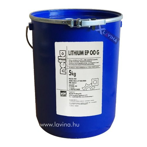 Netla Lithium EP00 G kenőzsír 5kg,