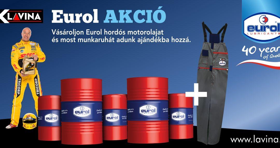 EUROL motorolaj akciók ajándék munkaruhával 2017 Ősz