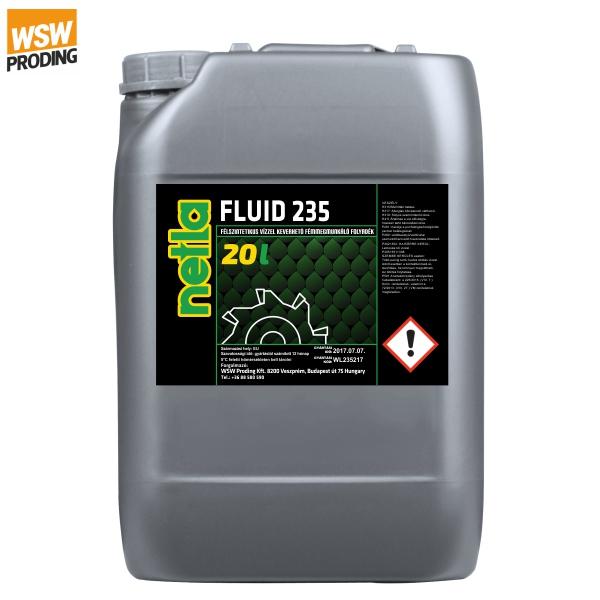 Netla fluid 235 emulzió vízzel keverhető fémmegmunkáló folyadék,